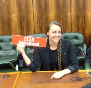 Frida Fostvedt som delegat for ELSA Norge