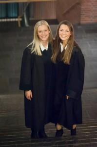 Vinnerne av ELSA Bergens prosedyrekonkurranse 2013: Maren Aurora Holen og Celina Ekholt