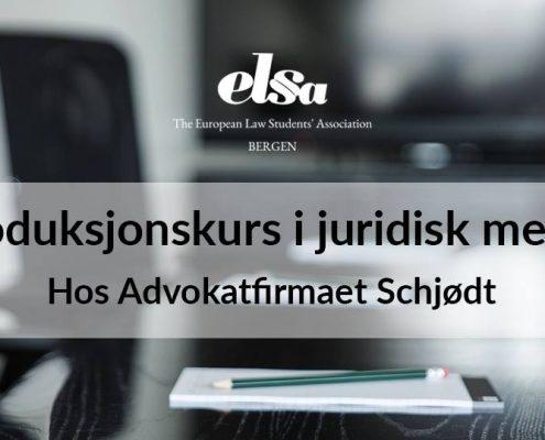 Introduksjonskurs i juridisk metode hos Advokatfirmaet Schjødt