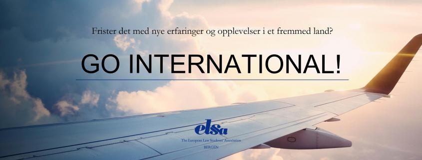 Go international med ELSA Bergen.