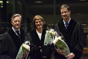 Dommerne Øystein Horneland, Ragnhild Noer og John Christian Elden var godt fornøyde med innsatsen til begge lagene i finalen.