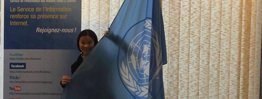 Helena Baugstø på besøk hos FN.